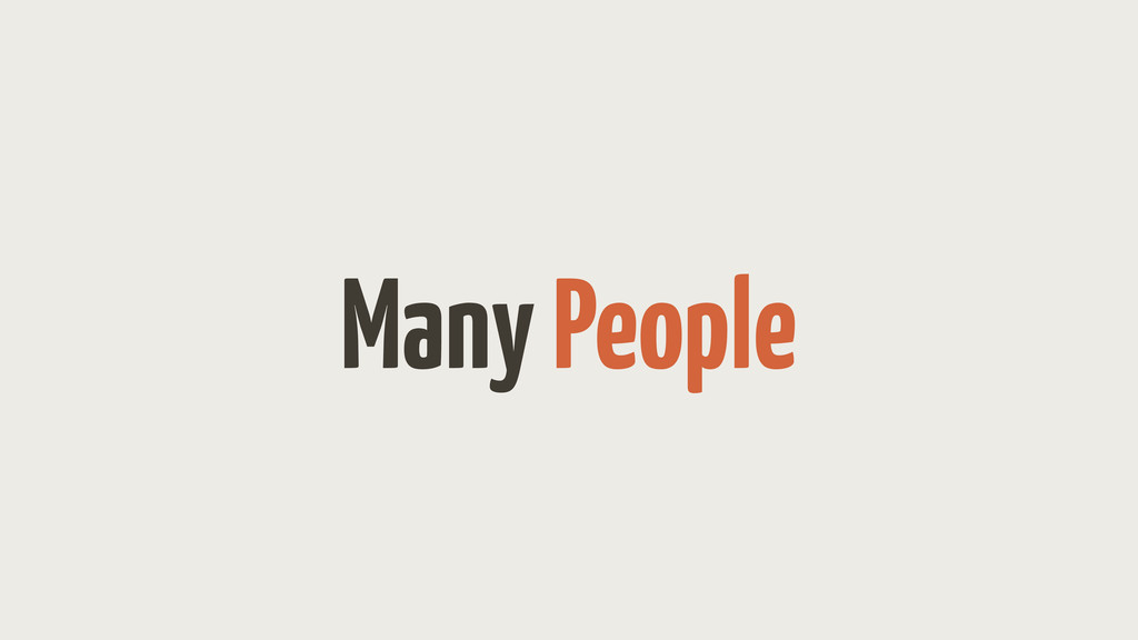 Many People