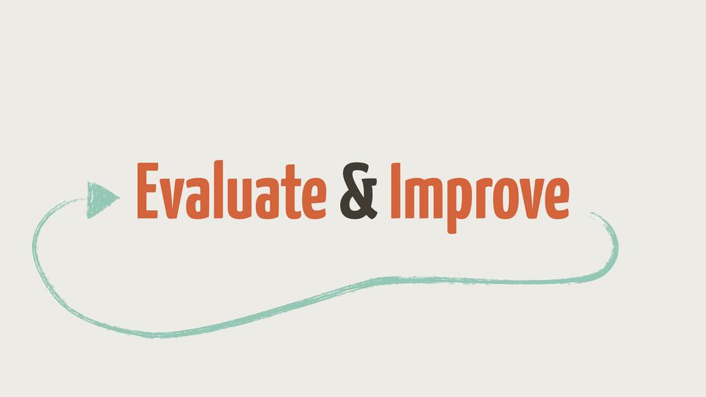 Evaluate & Improve