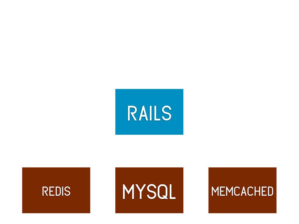 rails mysql redis memcached