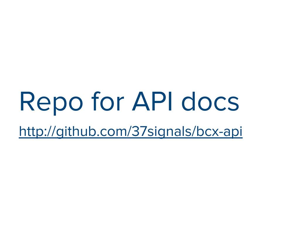 Repo for API docs http://github.com/37signals/b...