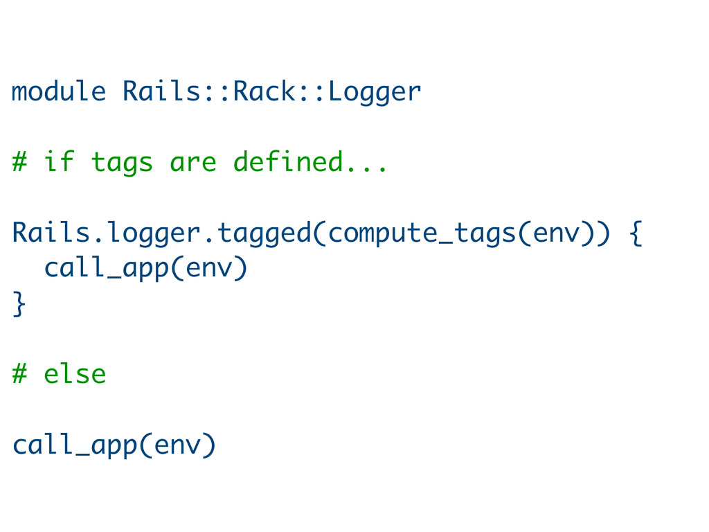 module Rails::Rack::Logger # if tags are define...