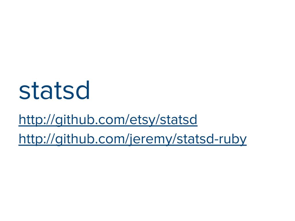 statsd http://github.com/etsy/statsd http://git...