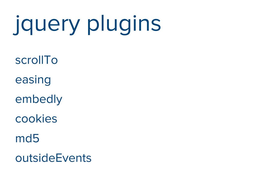 jquery plugins scrollTo easing embedly cookies ...
