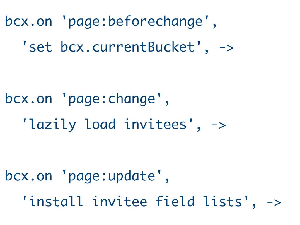 bcx.on 'page:beforechange', 'set bcx.currentBuc...