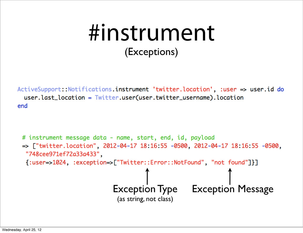 #instrument (Exceptions) Exception Type (as str...