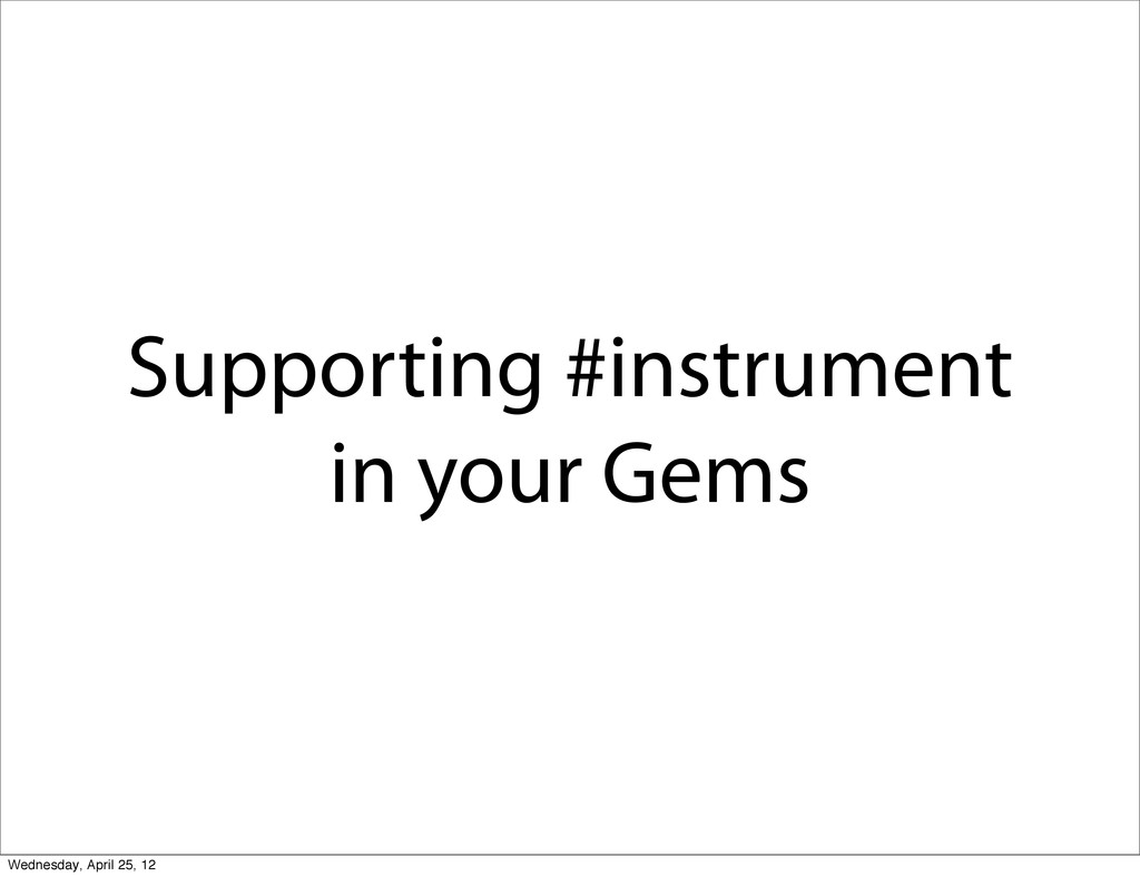 Supporting #instrument in your Gems Wednesday, ...