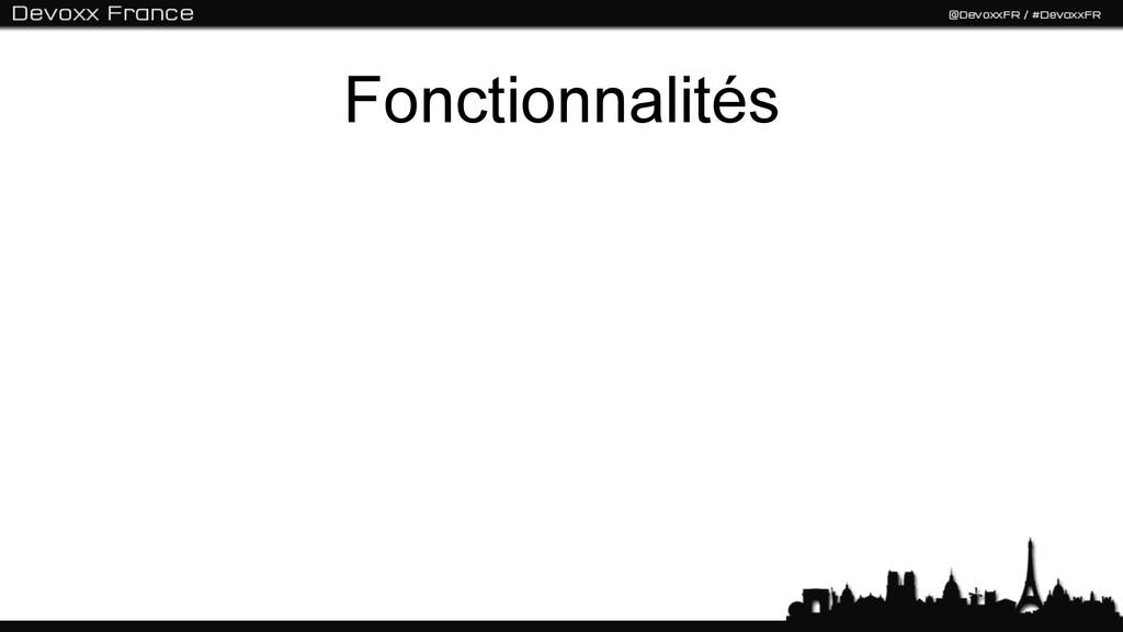 Fonctionnalités