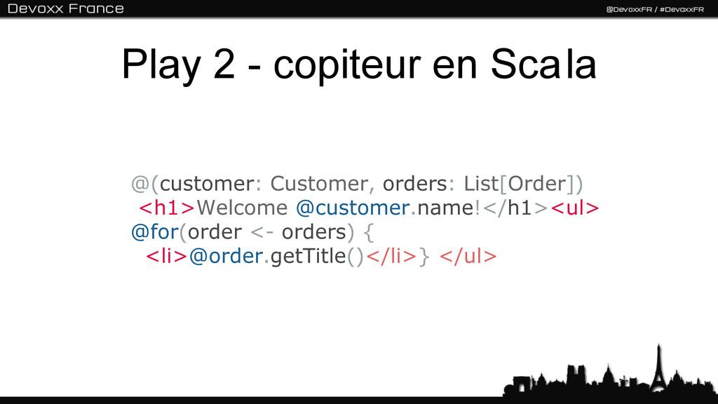 Play 2 - copiteur en Sca la @(customer: Custome...