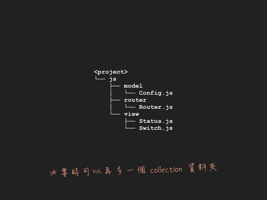 <project> └── js ├── model │ └── Config.js ├── ...