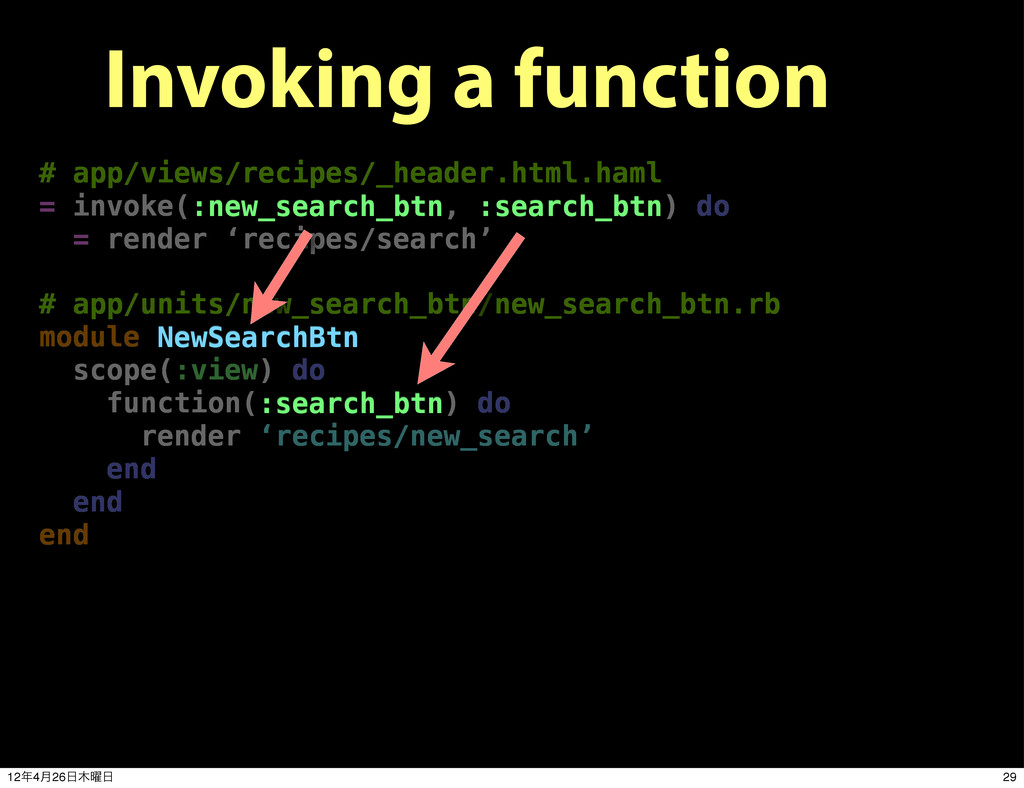 Invoking a function # app/views/recipes/_header...