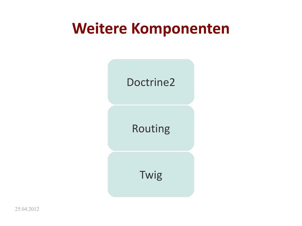 25.04.2012 Weitere Komponenten Doctrine2 Routin...