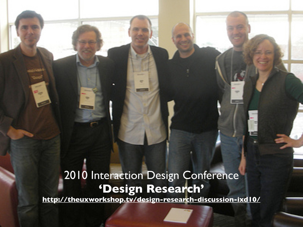 2010 Interaction Design Conference 'Design Rese...