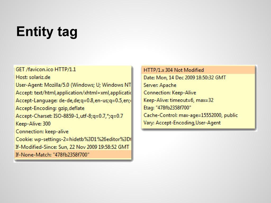 Entity tag