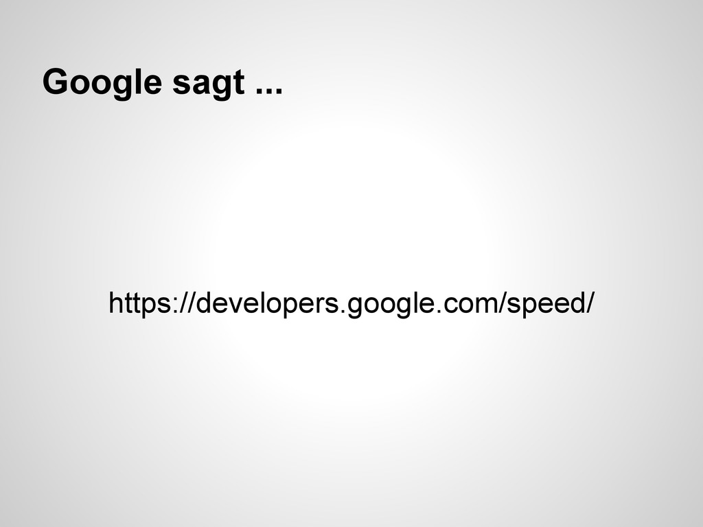 Google sagt ... https://developers.google.com/s...