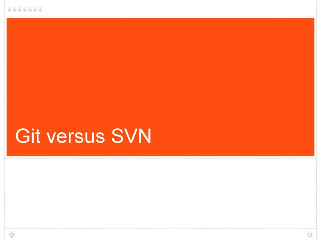 Git versus SVN