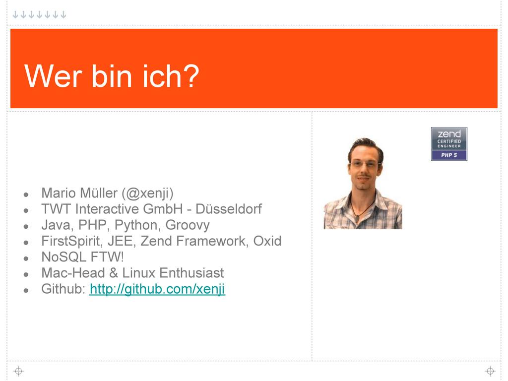 Wer bin ich? ● Mario Müller (@xenji) ● TWT Inte...