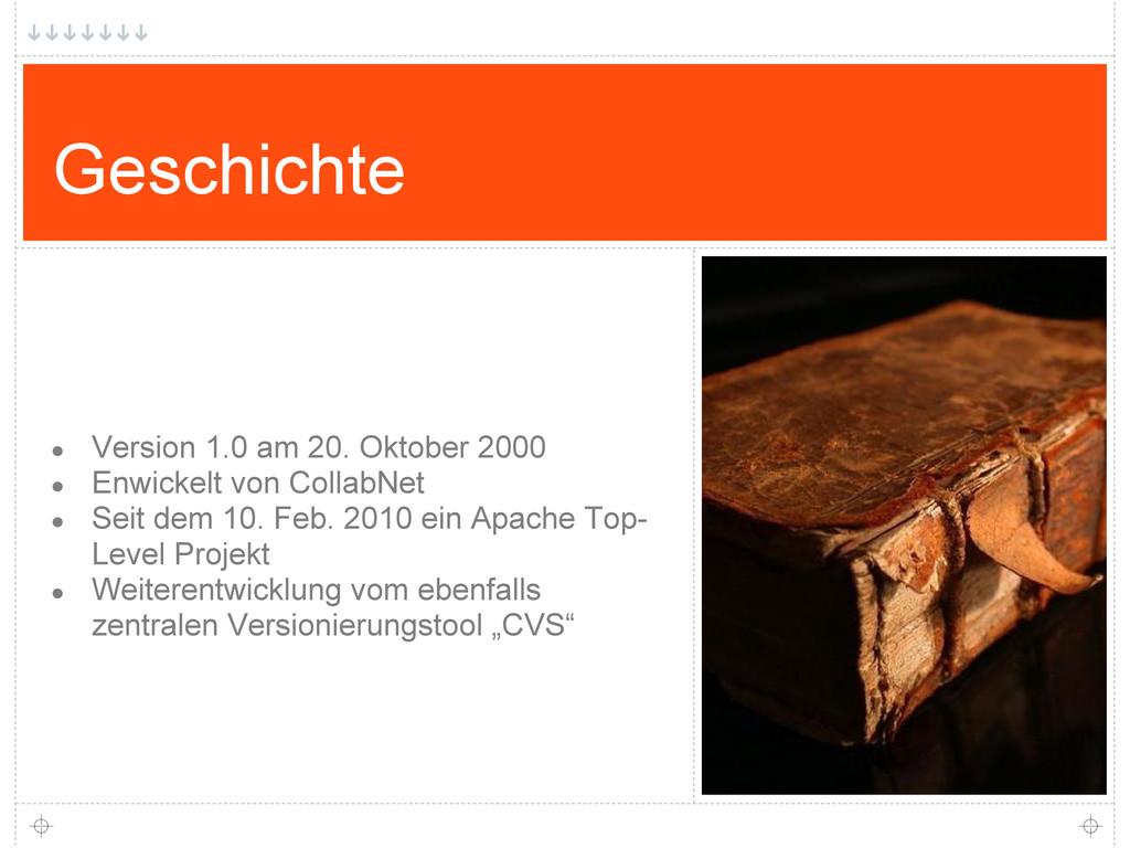 Geschichte ● Version 1.0 am 20. Oktober 2000 ● ...
