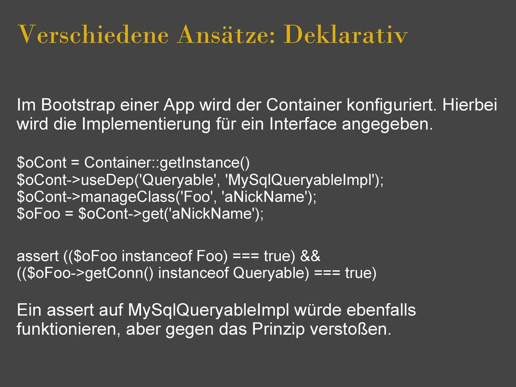 Verschiedene Ansätze: Deklarativ Im Bootstrap e...