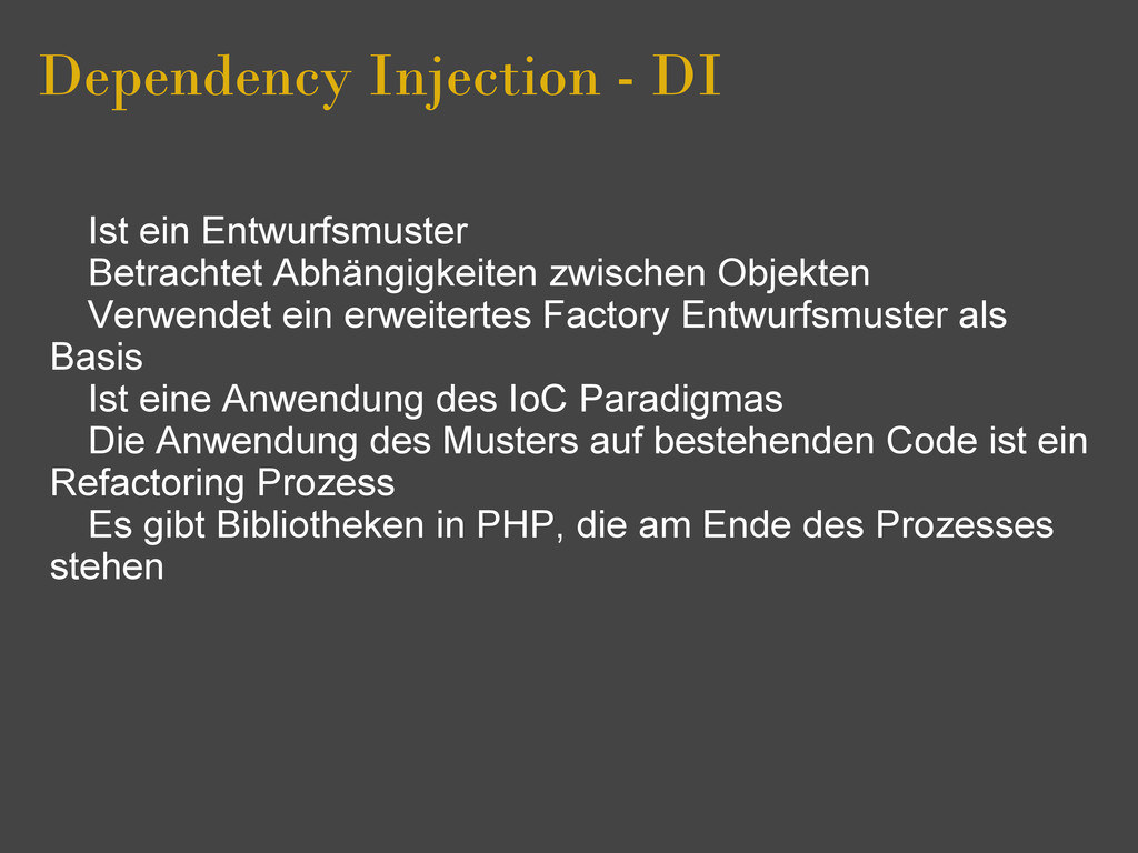 Dependency Injection - DI Ist ein Entwurfsmuste...