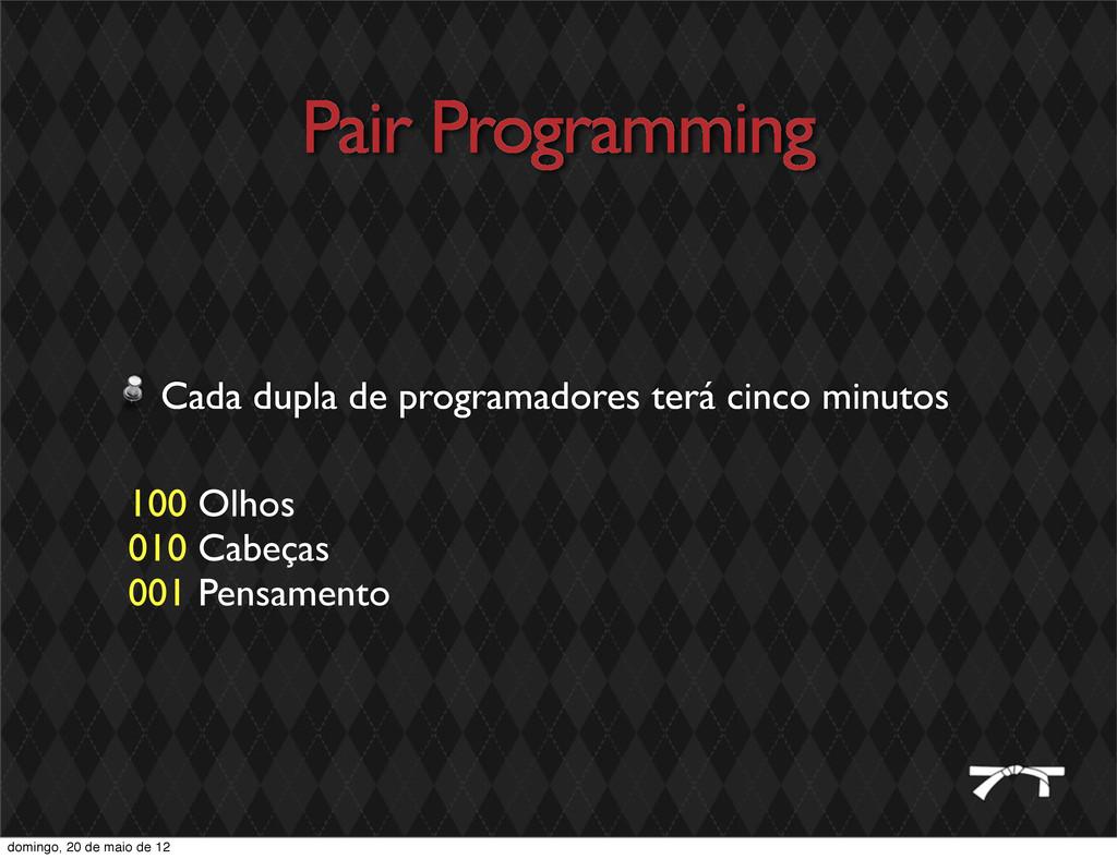 Pair Programming Cada dupla de programadores te...