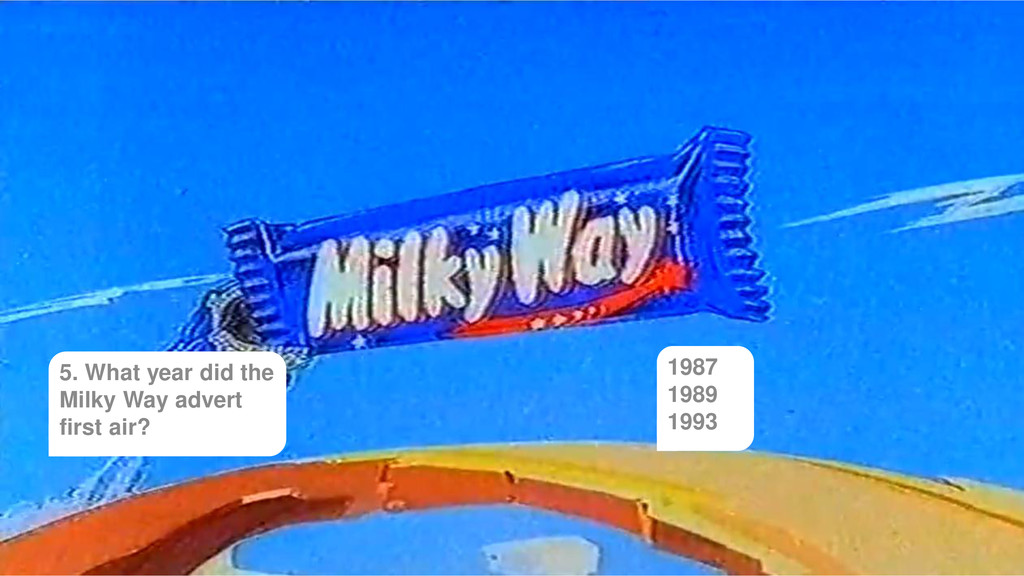 5. What year did the Milky Way advert first air...