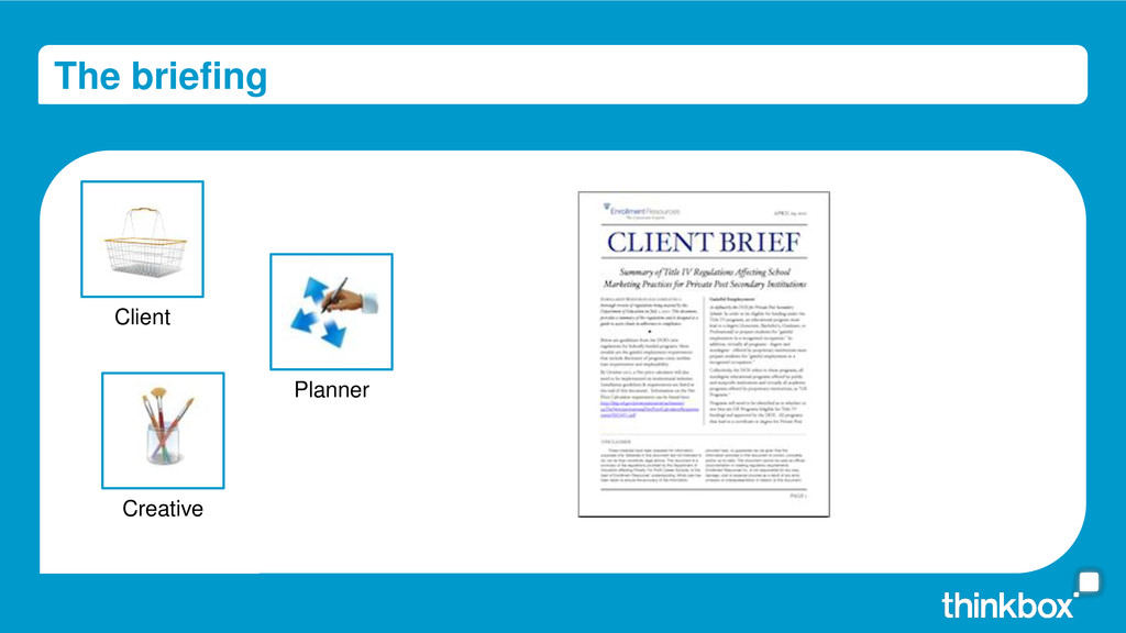 The briefing Creative Client Planner