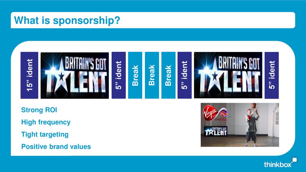 "What is sponsorship? 15"" ident 5"" ident 5"" iden..."