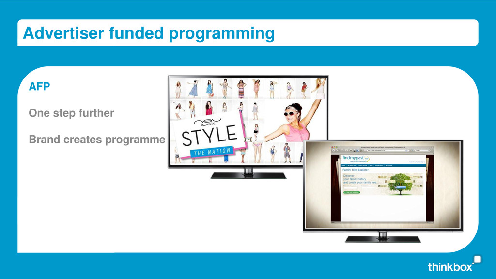 Advertiser funded programming AFP One step furt...