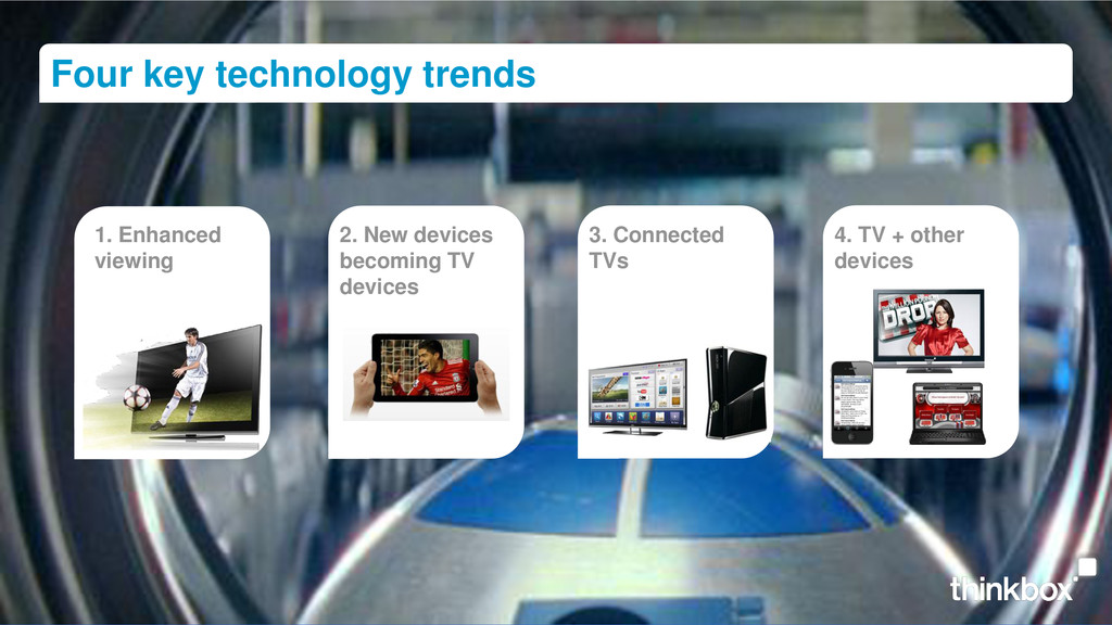 1. Enhanced viewing 2. New devices becoming TV ...