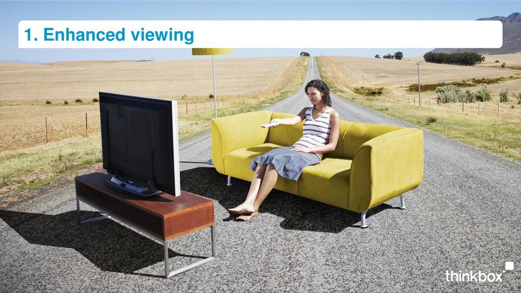 1. Enhanced viewing
