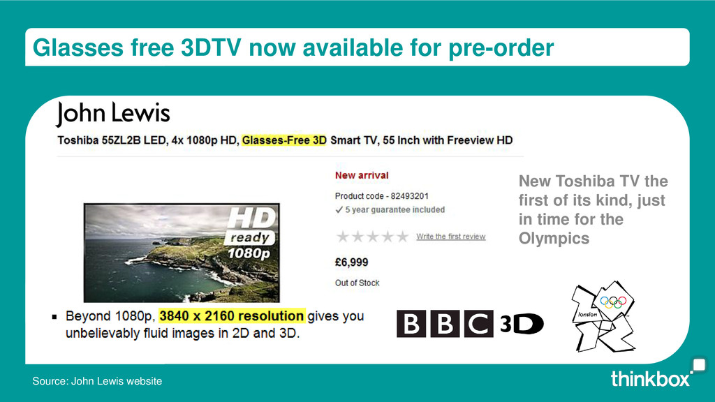 Glasses free 3DTV now available for pre-order S...