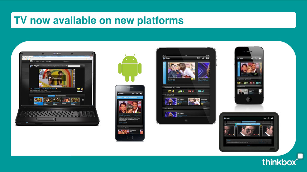 TV now available on new platforms