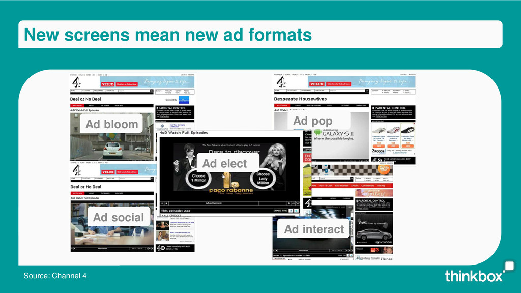 New screens mean new ad formats Ad bloom Ad pop...