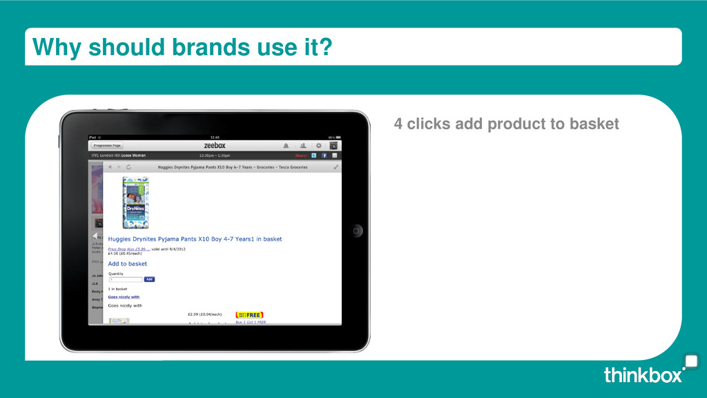 Why should brands use it? 4 clicks add product ...