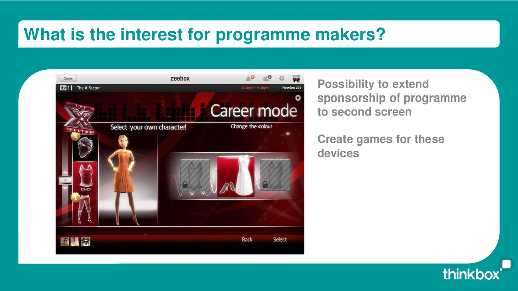 What is the interest for programme makers? Poss...
