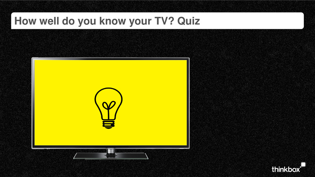 How well do you know your TV? Quiz
