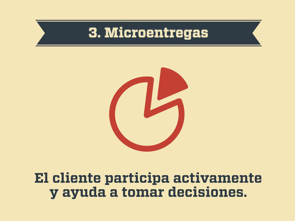 3. Microentregas El cliente participa activamen...