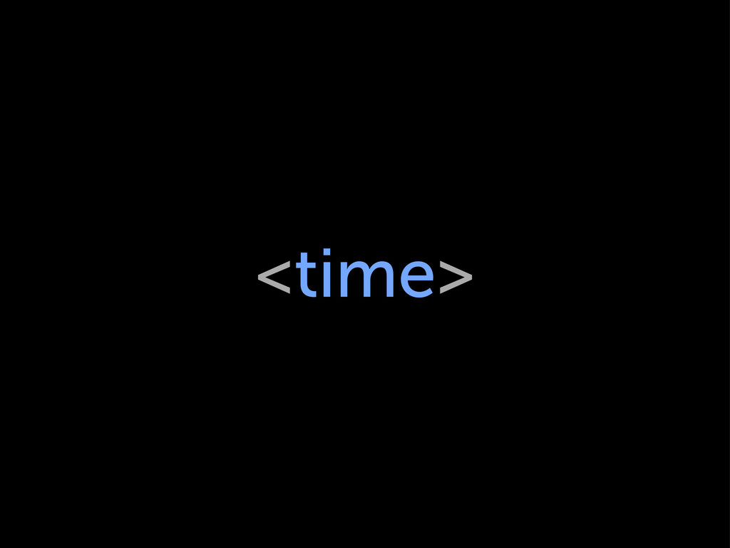 <time>