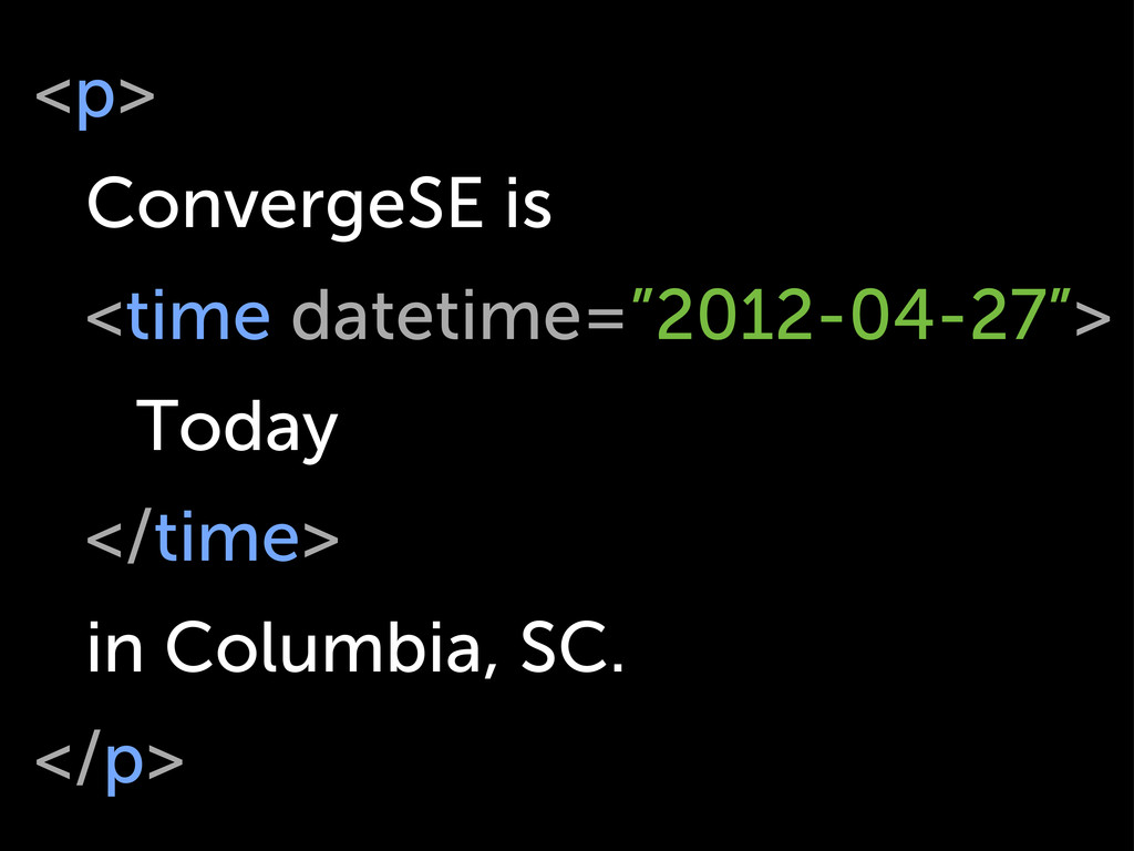 "<p> ConvergeSE is <time datetime=""2012-04-27""> ..."