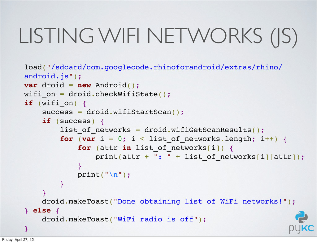 "LISTING WIFI NETWORKS (JS) load(""/sdcard/com.go..."