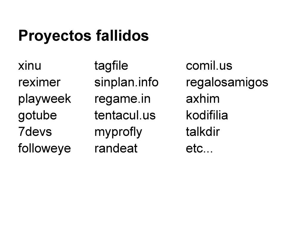 Proyectos fallidos xinu tagfile comil.us rexime...