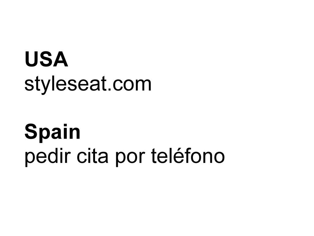 USA styleseat.com Spain pedir cita por teléfono