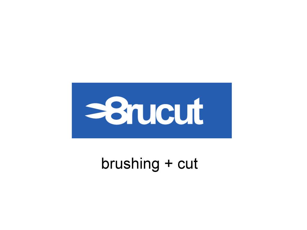 brushing + cut