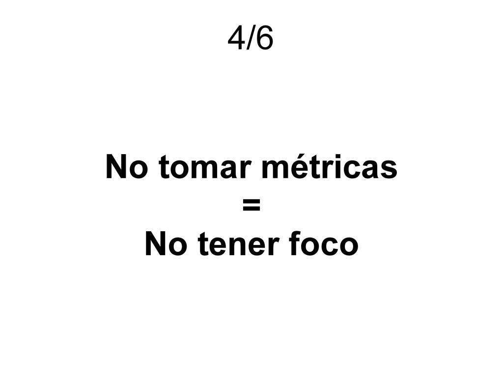 No tomar métricas = No tener foco 4/6