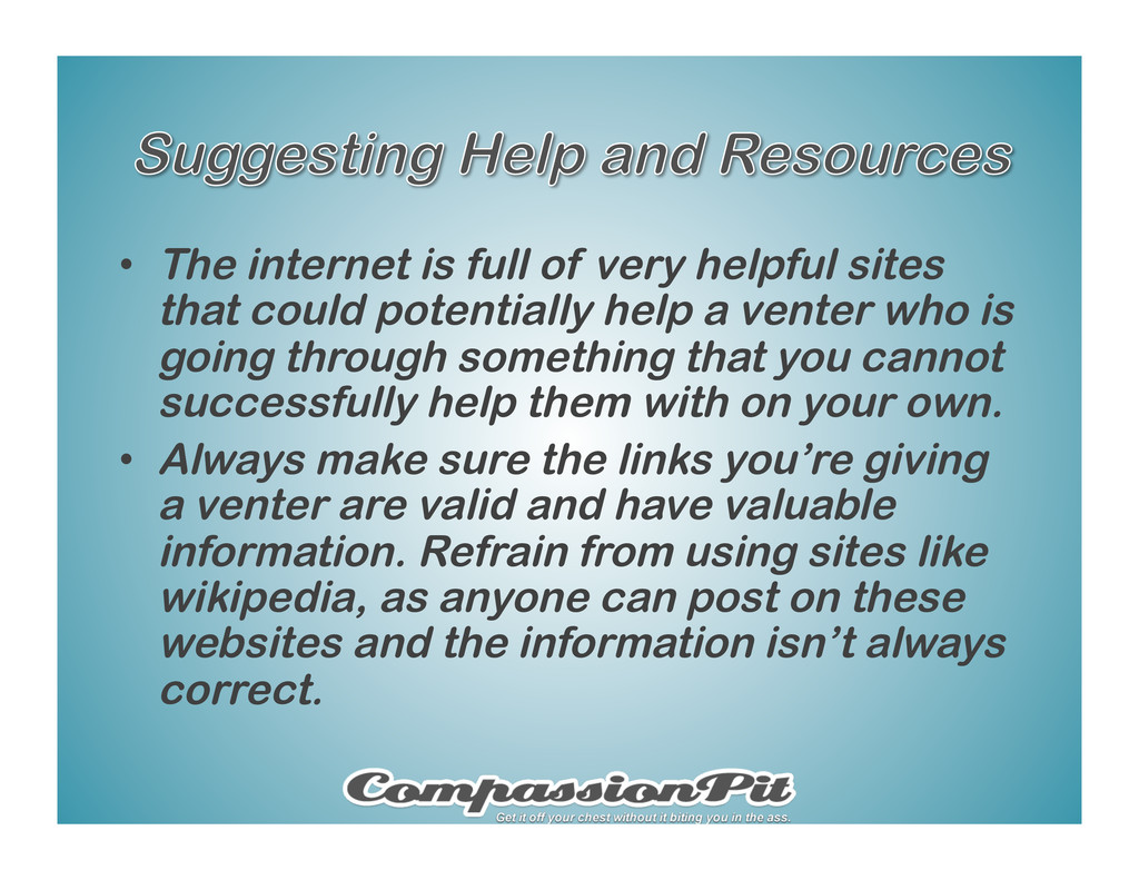 •  The internet is full of very helpful sites t...