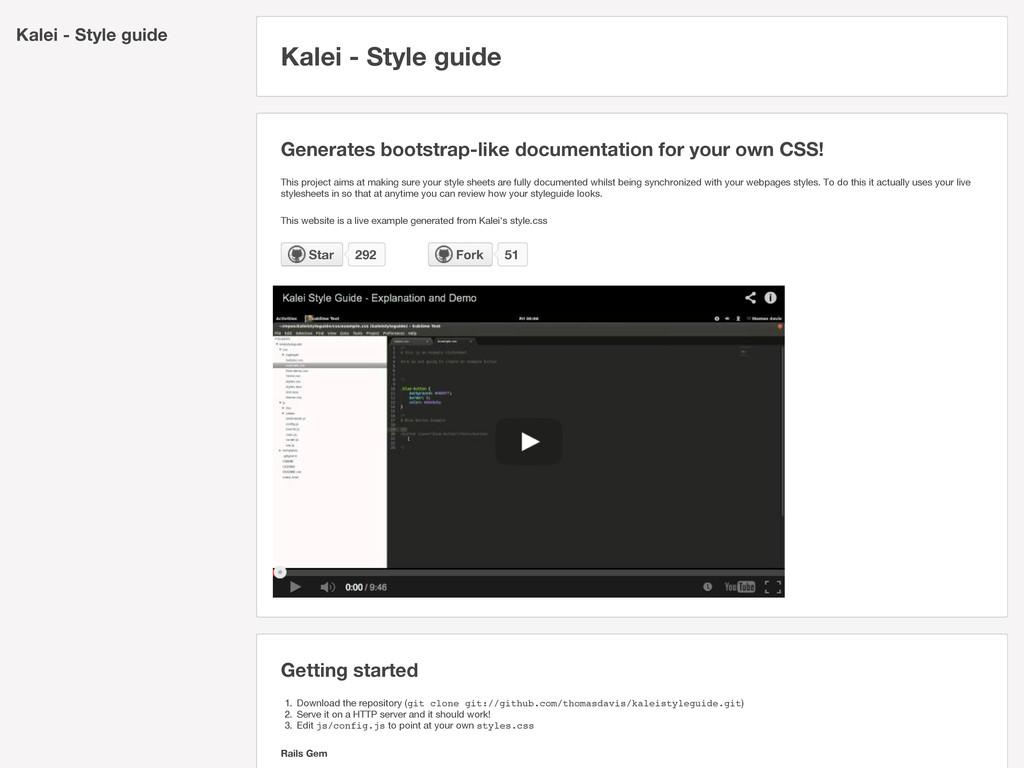 Kalei - Style guide Kalei - Style guide Generat...