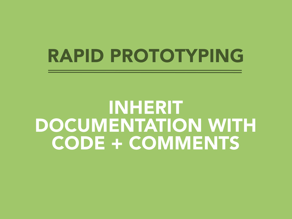 RAPID PROTOTYPING INHERIT DOCUMENTATION WITH CO...