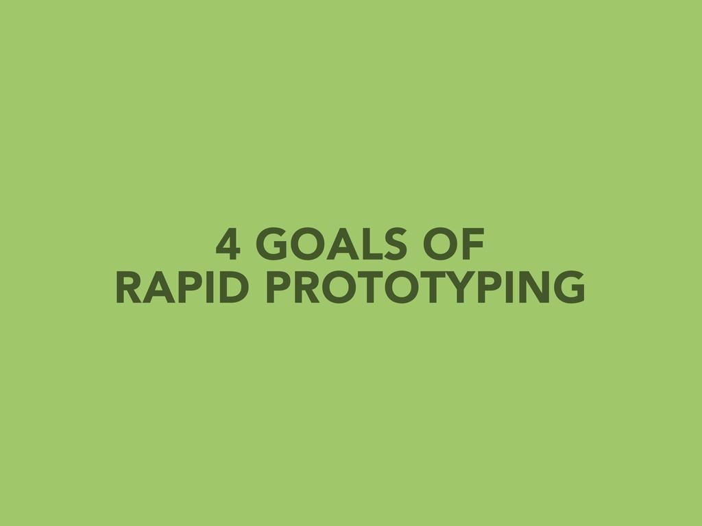 4 GOALS OF RAPID PROTOTYPING