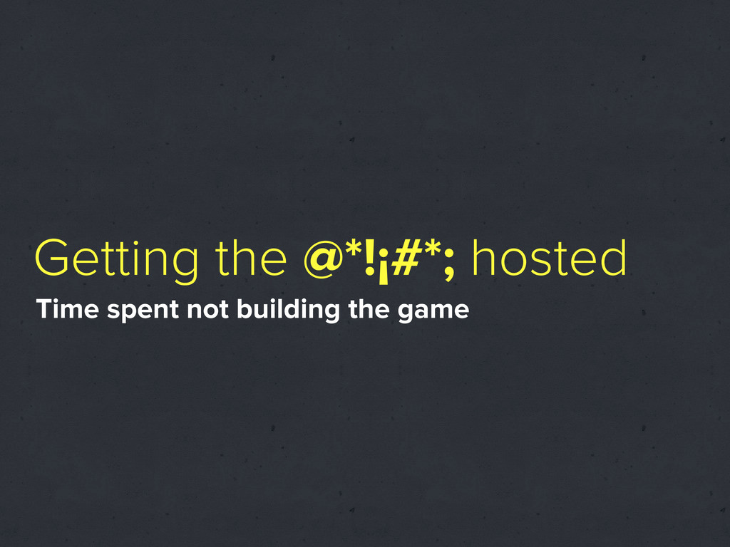 Getting the @*!¡#*; hosted Time spent not build...