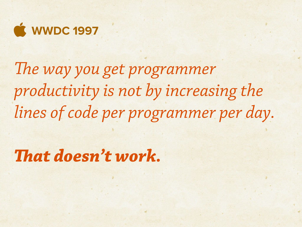  WWDC 1997 e way you get programmer productiv...